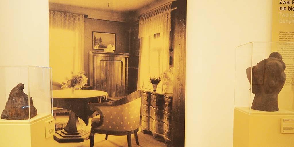 Laatste kamer van Käthe Kollwitz in Moritzburg coll Kollwitz Museum Keulen foto Wilma Lankhorst