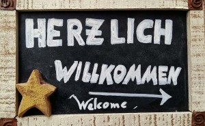 Potsdam hartelijk welkom bord