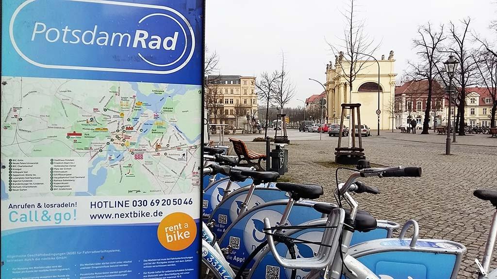 Potsdam op de fiets verkennen foto Wilma Lankhorst
