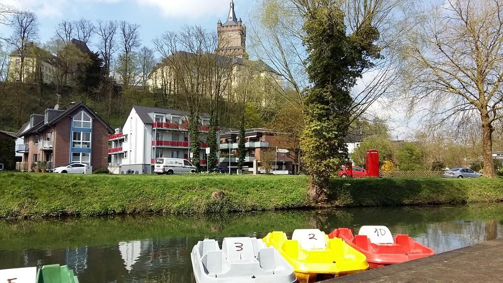 Zicht op Zwanenburg vanaf terras Königsgarten aan Kermisdahl foto Wilma Lankhorst