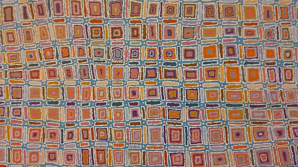 Aboriginal kunst in AAMU - detail foto wilma Lankhorst