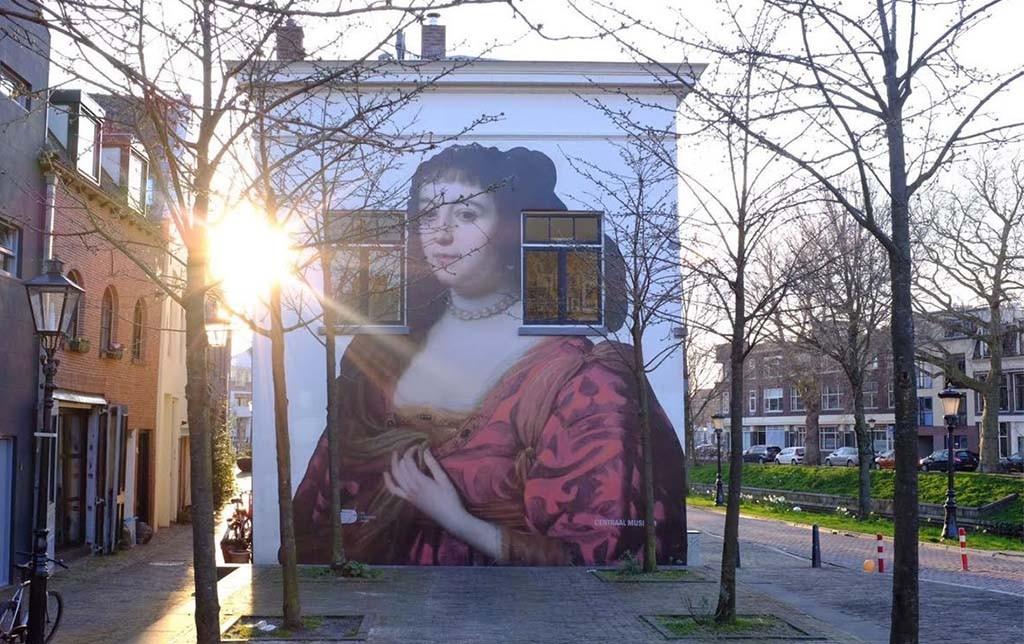 Amalia van Solms (Gerard van Honthorst) op de Van Asch van Wijckskade in Utrecht coll. Centraal Museum Utrecht