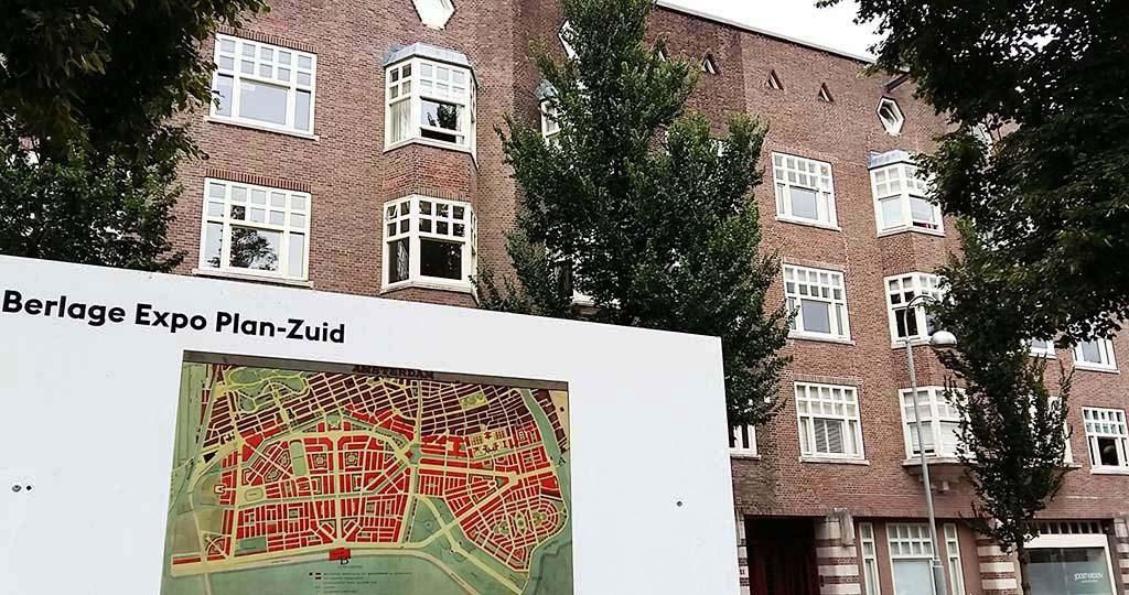 Berlage Amsterdam Berlage's ontwerp voor plan zuid 1917 foto Wilma Lankhorst