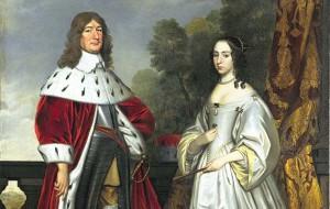 Detail dubbelportret Louise Henriette en Frederik Willem I _Gerrit van Honthorst_coll. Mauritshuis