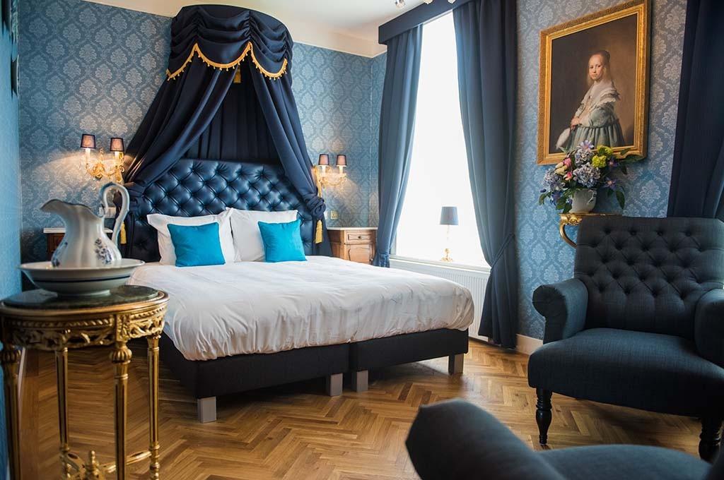 Leiden Boutique hotel de Barones - de blauwe kamer -