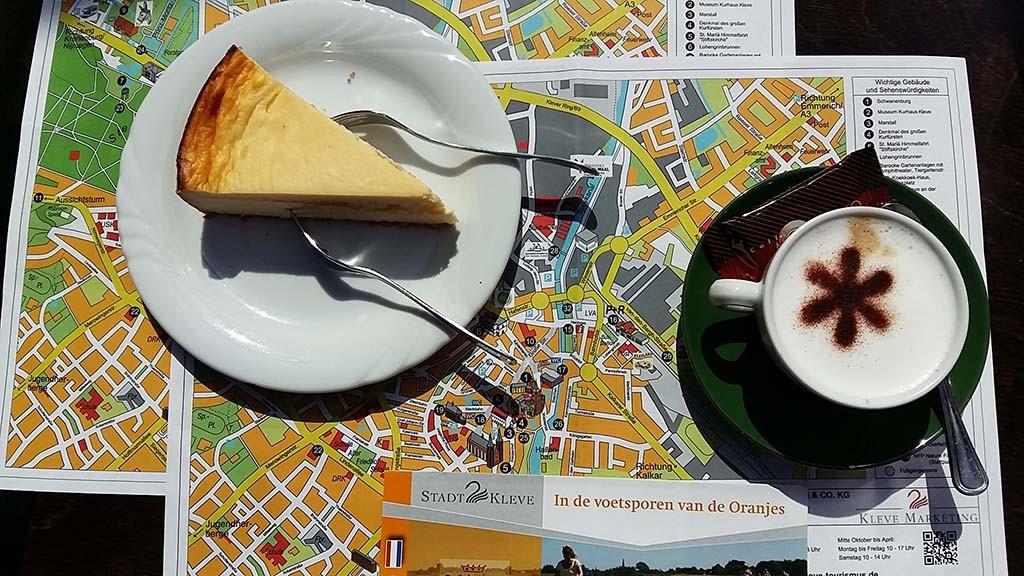 Kleve koffiestop op Oranjefietsroute foto Wilma Lankhorst