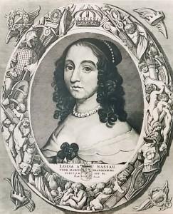 Portret Prinses Louise Henriette van Nassau foto genomen in Zwaneburg Kleve