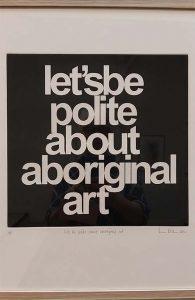 Vernon Ah Kee - Let's be polite (2012) co.. AAMU foto Wilma Lankhorst