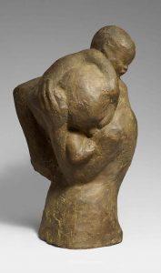 Moeder met kind over haar schouder - Käthe Kollwitz (1971) gips