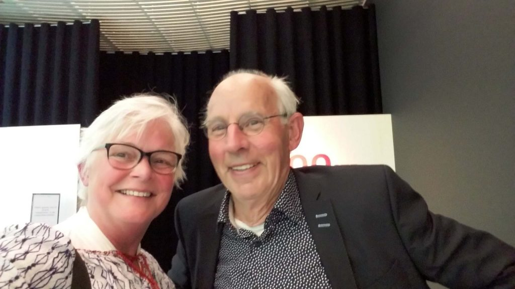 100ste 4daagse opening selfie Wilma met Henk Kroes foto Wilma Lankhorst