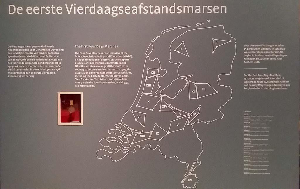 100ste vierdaagse 1909 15 routes foto Wilma Lankhorst