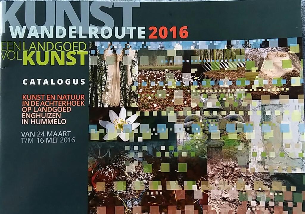 Programma boekje en gedichtenbundel Kunstroute Enghuizen 2016