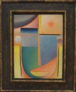 WILDEN Alexej von Jawlensky - abstracte kop - verlichting 1927 coll Kunstsammlungen Chemnitz