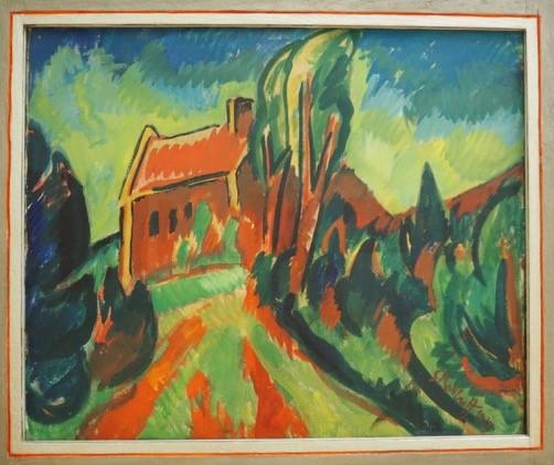 WILDEN het Rode Huis - Karl Schmidt Rottluff -1913 - coll. Kunsthalle Bremen