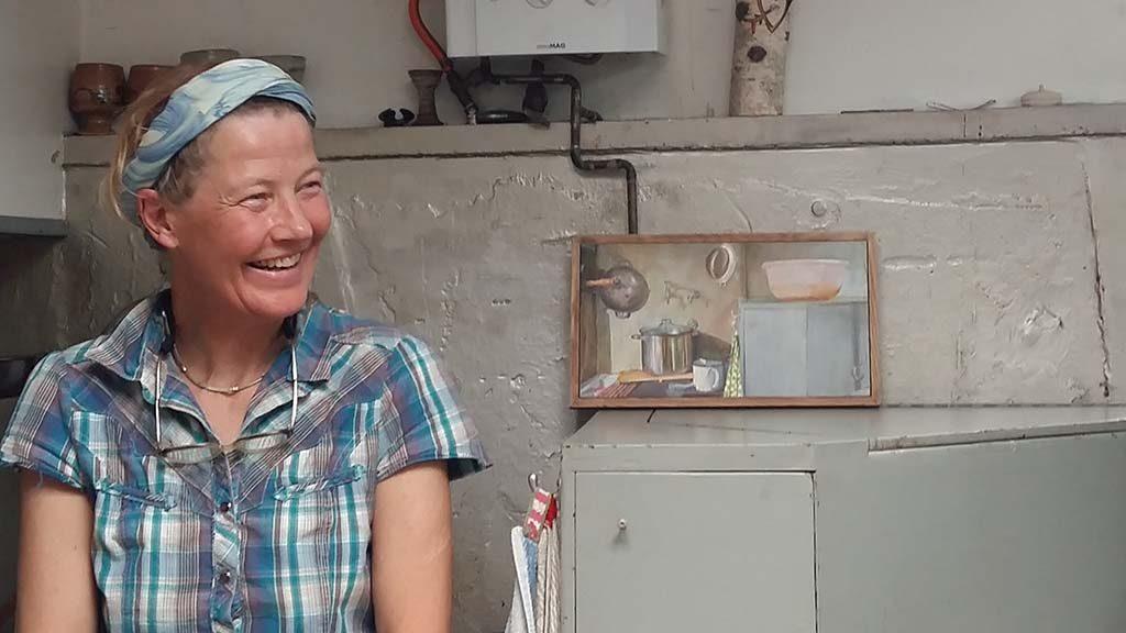 Emscherkunst 2016 Marja Zomer in haar varende atelier foto Wilma Lankhorst
