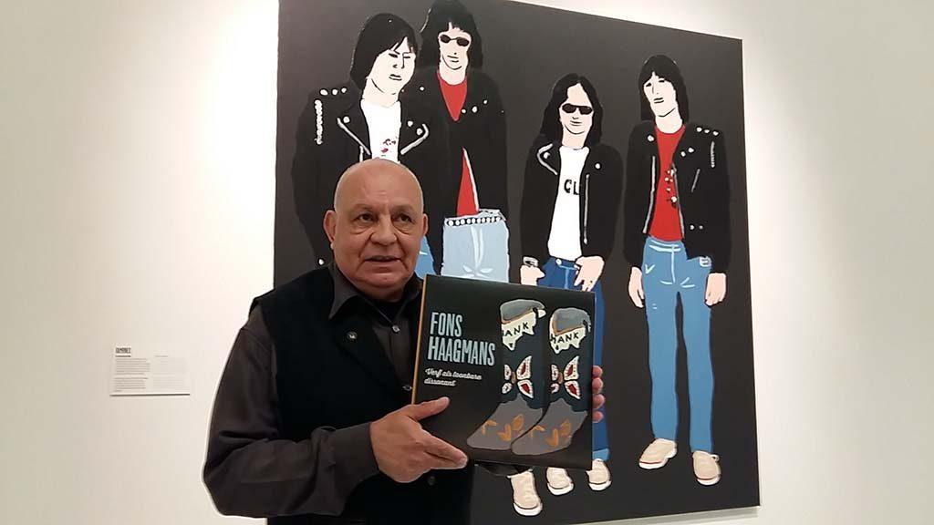 Fons Haagmans voor zijn werk de Ramones (2014) - Museum het Valkhof foto Wilma Lankhorst