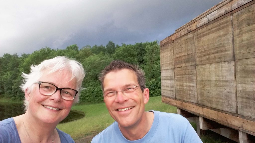 Wilma - Martin bij Warten auf den Fluss Emscherkunst 2016 selfie Wilma Lankhorst