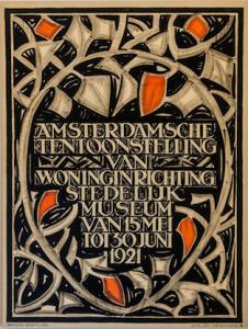 Wonen in de Amsterdam School - affiches van Tine Baanders -coll. Stedelijk Museum AMS