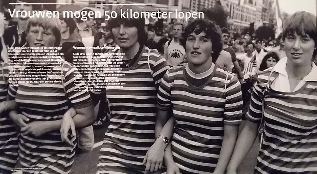 1980 vrouwen mogen 50 kilometer lopen tijdens de vierdaagse Museum het Valkhof