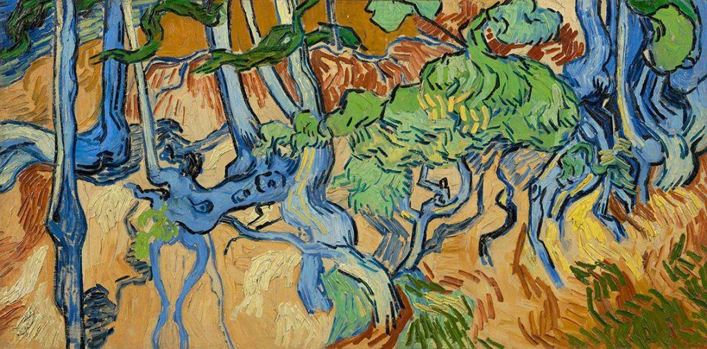 Boomwortels juni 1890 het laatste werk van Vincent van Gogh dat in Auvers op de ezel stond coll Van Gogh Museum