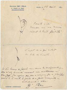 De brief van Dr. felix rey 18.8.1930 aan Irving Stone coll. Berkeley LR