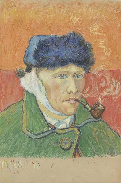 Vincent van gogh de waanzin nabij wilma takes a break - Autoportrait van gogh oreille coupee ...