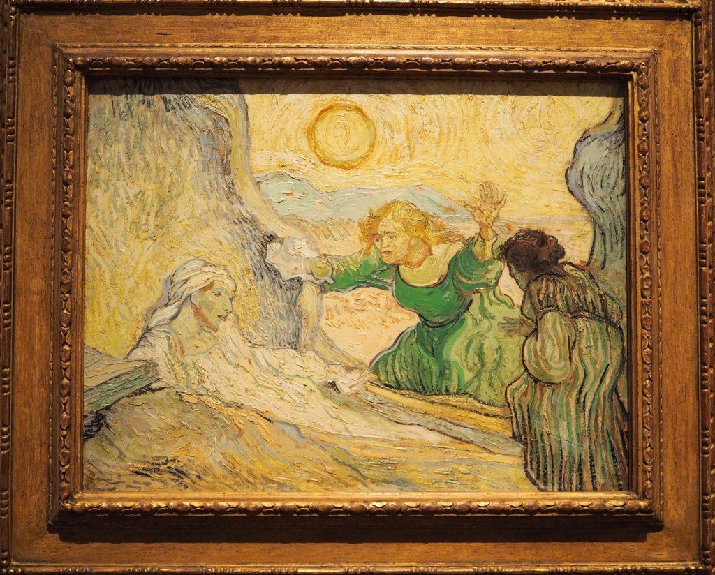 De opwekking van Lazarus (naar Rembrandt) 1890 ©Vincent van Gogh coll Van Gogh Museum foto Wilma Lankhorst