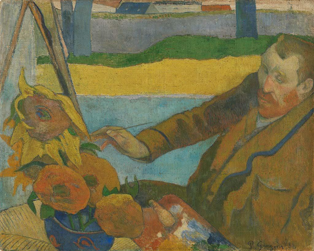Paul-Gauguin schildert Van Gogh 1888 coll Van Gogh Museum - Vincent van Gogh Stichting