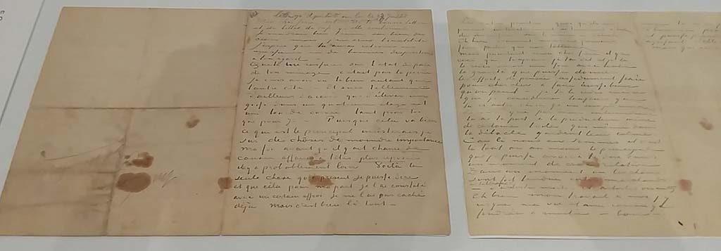 Van Gogh's laatste brief aan Theo juli 1890 Van Gogh Museum foto Wilma Lankhorst