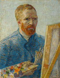 Zelfportret-als-schilder 1887-1888 Vincent Van Gogh -LR