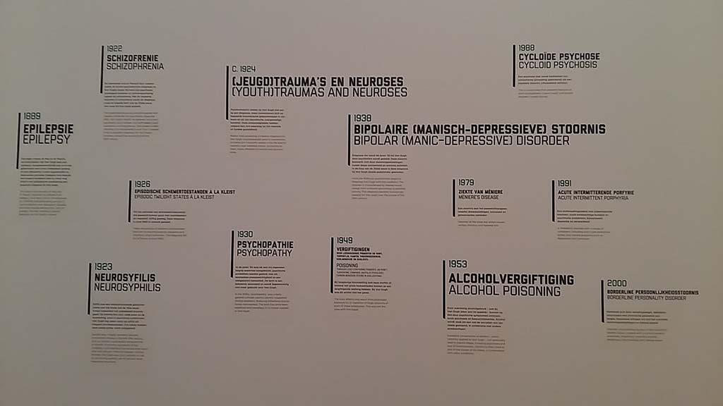 de waanzin nabij, Vincent van Gogh museum opsooming van diagnose ziekte Van Gogh foto Wilma Lankhorst