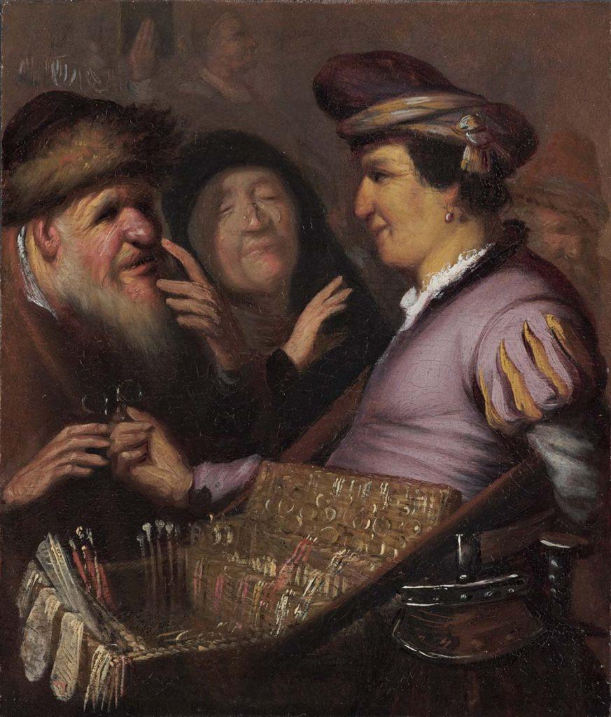 Brillenverkoper 1624 Rembrandt van Rijn collectie Museum de Lakenhal in Leiden