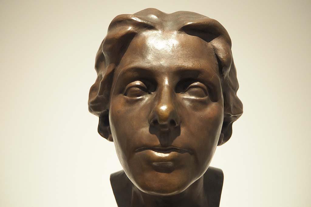 brozen buste Paula Modersohn Becker - Clara Rilke Westhoff coll PMB museum Bremen foto Wilma Lankhorst