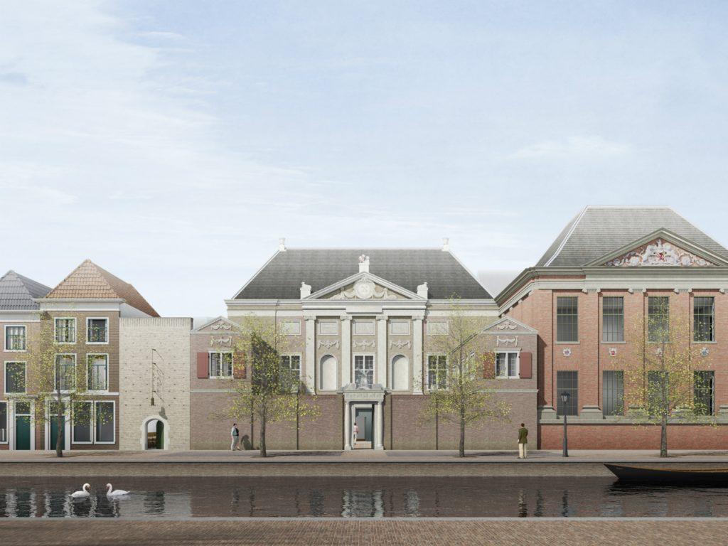 De-Lakenhal-in-Leiden-impressie-van-de-nieuwe-voorgevel Museum de lakenhal