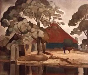 Gerrit-Willem-van-Blaaderen-Noord-Hollandse-boerderij-1927-Stedelijk-Museum-Alkmaar