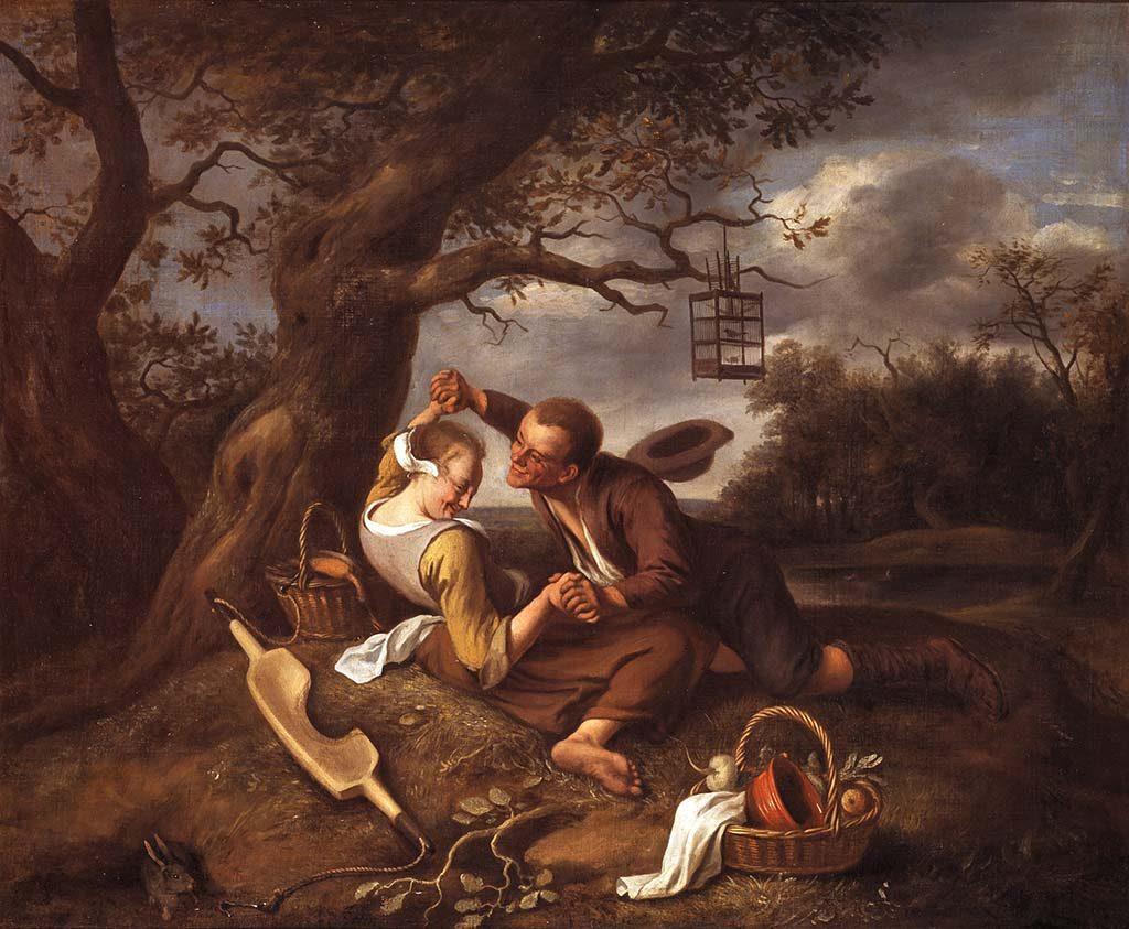 Stoeiend-paar-Jan-Steen-collectie-Museum-de-Lakenhal-Leiden