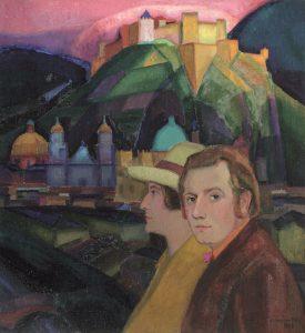 Johan-van-Hell-Zelfportret-met-Pau-Wijnman-1923-Particulier-bezit-Canada