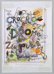 Machinespektakel-Affiche-Visite-la-Crocrodome-1977-Centre-Pompidou-©-Jean-Tinguely-coll.-Tinguely-Base
