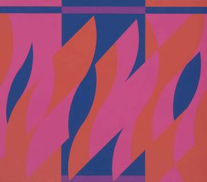 Bridget-Riley-curve-painting_Two_reds_with_violet-2008-coll-Gemeentemuseum-Den-Haag