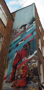 Londen_Shoreditch_Street_Art_Tour_Conor-Harrington-soldaat-in-Lamb_-Street_6-11-2016-foto-Wilma-Lankhorst