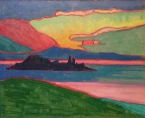 Zonsondergang-boven-het-Staffelmeer-Gabriele-Münter-1910-11-Merzbacher-Collectie-foto-Wilma-Lankhorst
