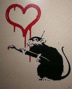 The-art-of-Banksy-Love-Rat-2004-foto-Wilma-Lankhorst