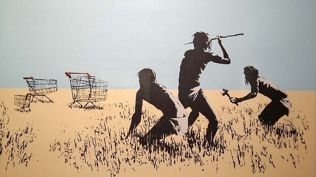 The-art-of-Banksy-Trolley-Hunters-2007-foto-Wilma-Lankhorst