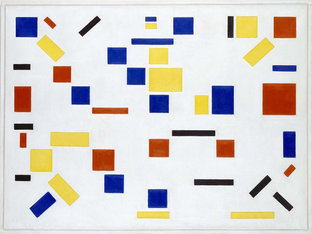 de Stijl_2017 Mondriaan_ Bart-van-der-Leck-Composition-No.-8-1917-coll-Gemeentemuseum-Den-Haag