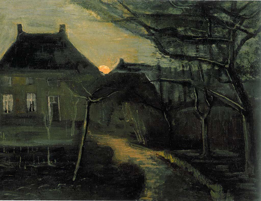 onthulling aquarel Van Gogh - schilderij Pastorie-in-Nuenen-1885-Vincent-van-Gogh-coll-HNBM