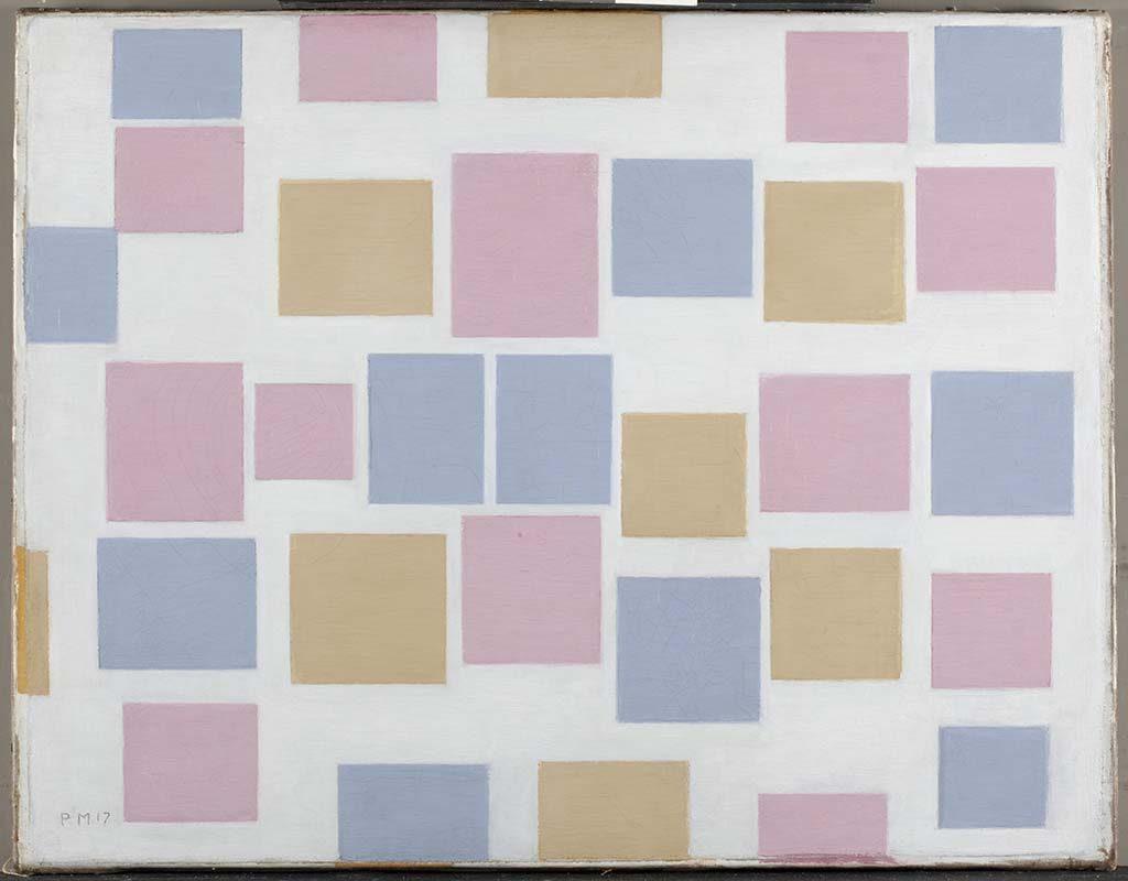Piet-Mondriaan-compositie-nr.-3-met-kleurvakjes-1917-coll-Gemeentemuseum-Den-Haag