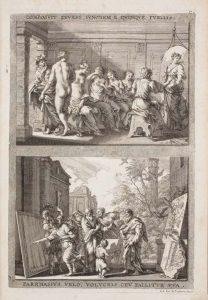 Achter-het-gordijn-Jacob-von-Sandrart_Zeuxis-und-Parrhasios_1683_coll-Museum-voor-Kunst-Kopenhagen-foto-SMK