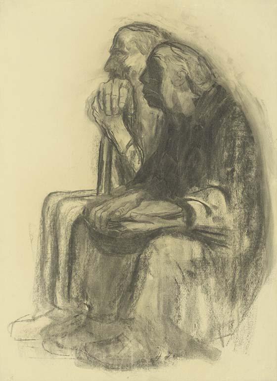 Käthe-Kollwitz-zelfportret-met-Karl-1938-1940-coll-KKMK