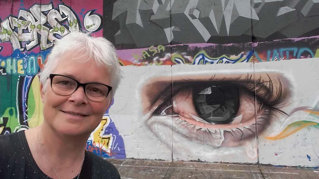 Street Art Nijmegen-selfie-Wima-Lankhorst-locatie-Vasim
