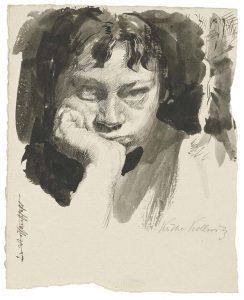 Käthe Kollwitz zelfportret -1889-1891-c-Käthe-Kollwitz-Museum-Köln